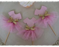 Ombre Ballerina Tutu Cupcake Toppers Birthday by JeanKnee on Etsy