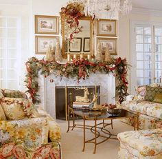 Image detail for -luxury decor fireplace on 40 traditional Christmas decorating ideas ...
