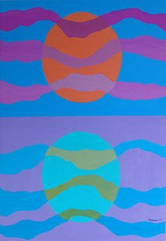 Ted Harrison - Crag Lake Reflection Acrylic on illustration board 16 x 20 inches