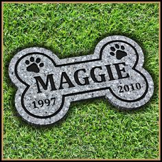 "Memorialize the life of your 4 legged friend with a Personalized Pet Memorial Grave Marker Headstone for Dog or cat 7"" x 12"" on Etsy $35 #PetMemorial #PetGraveMarker"