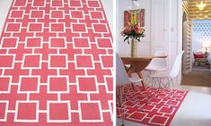 This #DIY rug is a show-stopper! And will only set you back $50 - TOTAL.