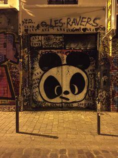 Graffiti in Paris, France.