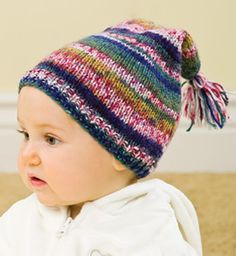 Striped Stocking Cap And Box Hat Pattern By Hand Knit By