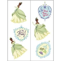 Princess and the Frog Tattoos 2 Sheets >>> You can find out more details at the link of the image. (This is an affiliate link) #TemporaryTattoos