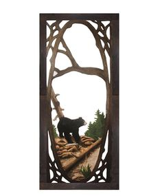 Hand carved screen door. Mountain home want!
