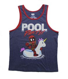 c2ff1c05381b29 Marvel Deadpool Pool Party Men s Graphic Tank Top Graphic Tank