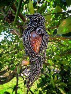Wire wrapped bird pendant (sterling and fine silver) by Tanja Dobrosla… Wire Jewelry Rings, Bird Jewelry, Wire Wrapped Jewelry, Jewelry Art, Jewelry Tools, Jewelry Ideas, Jewlery, Animal Symbolism, Wire Crochet