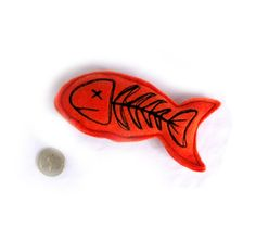 Fish Bones Catnip Toy - Orange