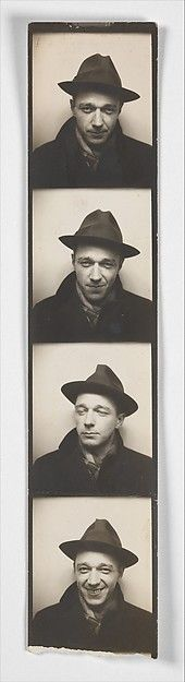Walker Evans (American, 1903–1975). [Self-Portrait in Automated Photobooth] 1930s.The Metropolitan Museum of Art, New York. Walker Evans Archive, 1994 (1994.261.48)