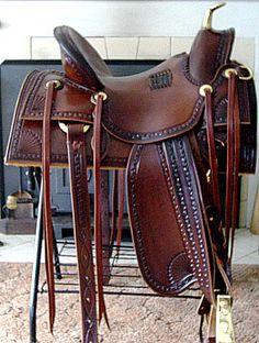 Custom Horse Saddles, Old Time Slick Fork, Old West Cowboy Horse ...