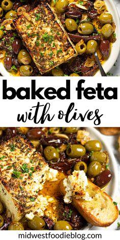 Vegetarian Recipes, Cooking Recipes, Healthy Recipes, Fun Recipes, Baked Feta Recipe, Fingers Food, Healthy Snacks, Healthy Eating, Mediterranean Diet Recipes