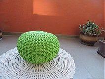 Úžitkový textil - Puf BONY zeleny - 3802829_