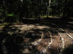 Labyrinth!!!  I did it, built my very own Labyrinth in the woods.  :)
