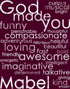 Personalized Affirmations Print!  Love this!