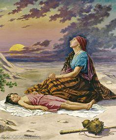 Hagar ( رَبَّنَا إِنِّي أَسْكَنْتُ مِنْ ذُرِّيَّتِي بِوَادٍ غَيْرِ ذِي زَرْعٍ عِنْدَ بَيْتِكَ الْمُحَرَّمِ )