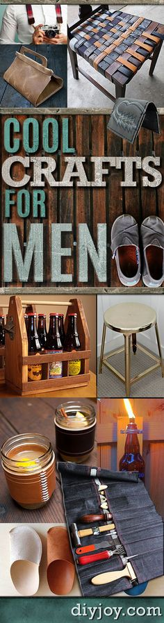 Awesome Crafts for Men and Manly DIY Project Ideas Guys Love - Fun Man Cave Ideas, Homemade Gifts, Manly Decor, Games and Gear. Tutorials for Creative Projects to Make This Weekend | Super DIY Gift Ideas for the Boyfriend, Husband, Brother and Father - Dad http://diyjoy.com/diy-projects-for-men-crafts
