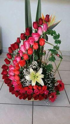 Valentine Flower Arrangements, Orchid Flower Arrangements, Funeral Flower Arrangements, Valentines Flowers, Beautiful Flower Arrangements, Beautiful Flowers Garden, Unique Flowers, Exotic Flowers, Beautiful Roses