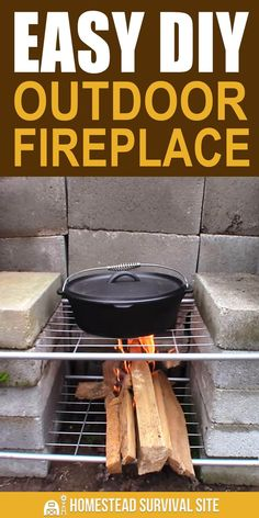 Easy DIY Outdoor Fireplace - Homestead Survival Site - It's possible to throw together a decent DIY outdoor fireplace in just 15 to 20 minutes. Diy Outdoor Fireplace, Outdoor Stove, Diy Fireplace, Fireplaces, Homestead Survival, Survival Prepping, Survival Skills, Survival Gear, Fire Pit Backyard