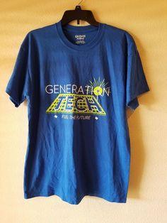 "Gildan DryBlend Men's Generation Tech ""Fuel The Future"" Graphic T-shirt Size L #GildanDryBlend #GraphicTee"