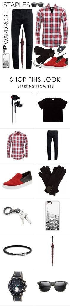 """""""Men:  Tartan"""" by petalp ❤ liked on Polyvore featuring Under Armour, Dsquared2, Neuw denim, Prada Sport, Gizelle Renee, Casetify, Emporio Armani, Alexander McQueen, Ted Baker and ZeroUV"""