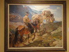 """Mountain Man, por William Herbert """"Buck"""" Dunton, c. 1909 Phoenix Art Museum"""