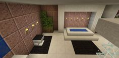 Minecraft Bathroom Garden Tub Toilet