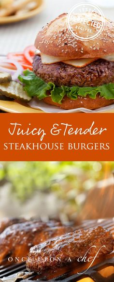 The Rise Of Private Label Brands In The Retail Meals Current Market Juicy Steakhouse Burgers - These Delicious Burgers Are Great For A Quick Weeknight Meal Or For A Bbq Burger Recipes, Grilling Recipes, Meat Recipes, Dinner Recipes, Cooking Recipes, Healthy Recipes, Juicy Burger Recipe, Healthy Meats, Potato Recipes