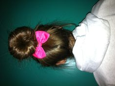 Perfect bun! Buntastic w/ Claire's bow