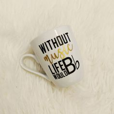 Without Music Life Would Be Flat Mug Lover Gift For Musician Musicians Teacher Christmas Ideas