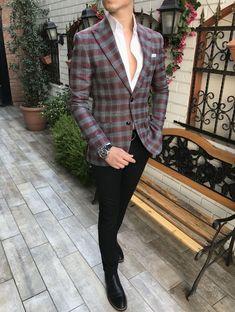 Blazer Outfits Men, Mens Fashion Blazer, Suit Fashion, India Fashion Men, Korean Fashion Men, Stylish Boys, Casual Suit, Double Breasted Blazer, Blazers For Men