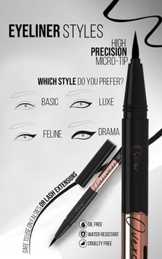Our newest best liquid eyeliner smudgeproof for beginners is finally here!! Black liquid eyeliner pencil, waterproof for younger and older women. Top 10 eyeliner pencil for oily skin, for thighlining, and for hooded eyelids. The only eyeliner that stays on all day. No smudge, promised! Premium high quality products for women. If you want an eyeliner for waterline or for the bottom lid, immovable is the one for you. Click and check our whole collection girl! #liquideyeliner #besteyeliner