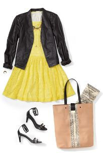 Women: Trend alert: lace | Piperlime  remember bright puffy sundresses w blk pleather jacket. so Benetar!