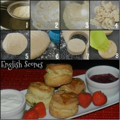 Step by Step instructions to make English Scones Baking Ideas, Baking Recipes, English Scones, Homemade Pasta, Bagels, Step By Step Instructions, Buns, Food To Make, Breads