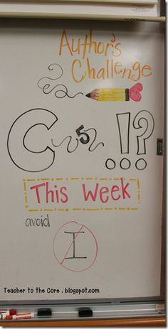 This whiteboard chart grows with my students week by week! I cannot believe the growth in my group this year!