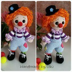 Handmade by Ülkü: Amigurumi Clown / Palyaco