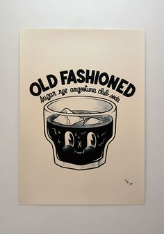 Old Fashioned by McBess. I love this graphic...but, Noooo to club soda!
