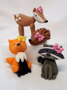 Custom order Fondant edible Woodland deer fox by SugarAndStripesCo, $57.00