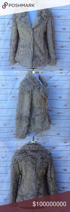 Coffeeshop coat Super soft faux fur jacket. Never worn CoffeeShop Jackets & Coats