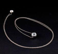 GEORG JENSEN Sterling Silver CAVE Necklace / Sautoir # 441B. Jacqueline Rabun.
