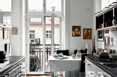 materials + space & light in parisian kitchen | via Lovely Living in Paris ~ Cityhaüs Design