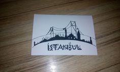Istanbul birthday card Istanbul, Birthday Cards, Artist, Handmade, Decor, Bday Cards, Decoration, Hand Made, Decorating