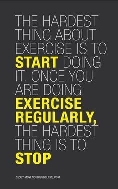 The Hardest Thing About Exercise exercise healthy meme motivation weightloss http://ift.tt/2ghmjj0 Posted by Cecilee Maelin – Monday Motivation!! If you havent started Get Started! If youve started Dont Stop!!#Weightloss #Workouts