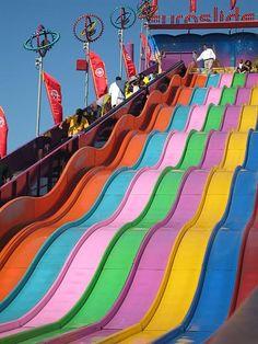 weeeeee! wouldn't you like to slide down a rainbow?
