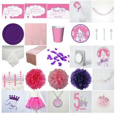 Kid Birthday Princess Ultimate Party-in-a-box