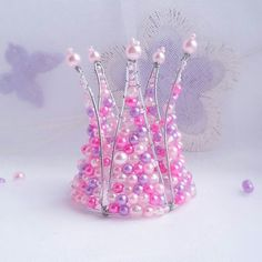 Корона Корона из бусин Для девочек Заказать корону Принцесса Ободки Ободок из бусин Для фотосессии Короны Короны ручной работы Для принцессы Аксессуары для волос Повязки Веночки