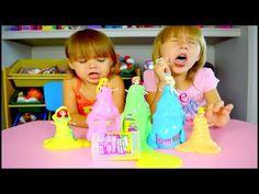 Disney Princess Flarp Putty Dresses!! Elsa, Anna, Cinderella, Ariel, Aurora - YouTube