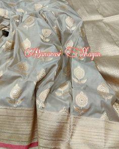 katan silk Handwoven saree For order email-shagunfrombanaras@gmail.com or whatsapp 9389902966 Saree Border, Banarasi Sarees, Saree Styles, Indian Weddings, Alexander Mcqueen Scarf, Yards, Desi, Hand Weaving, Colours