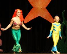 The Mermaid is not suitable for our show, but the Flounder costume is cute.