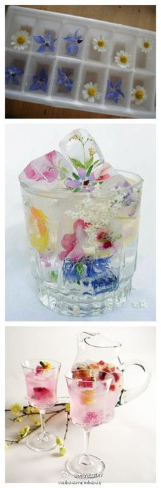 flower ice cubes!