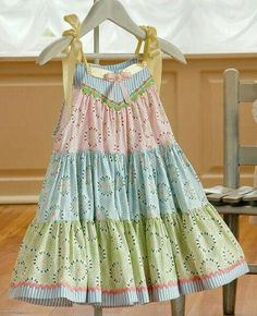 Bottom ruffle is 10 yards of fullness! Spring Fling dress pattern in Sewing with Whimsy book from Kari Mecca of Kari Me Away. Sewing Kids Clothes, Sewing For Kids, Baby Sewing, Children Clothes, Little Dresses, Little Girl Dresses, Little Girls, Girls Dresses, Baby Dresses